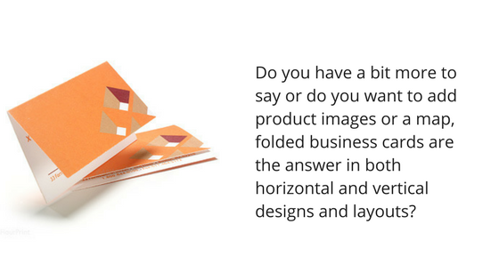 folded business cards horizontal and vertical designs and layouts